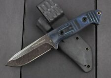 NEW Walter D2 Blade micarta Handle Camping outdoors Hunting knife FC02