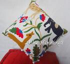 "16X16"" Home Decor Vintage Handmade Cushion Pillow Sofa Cover Suzani Embroidery #"