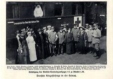 Visita del maltese-Verein ospedale Treno s2 a Münster immagine documento 1915