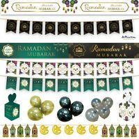 *Premium* RAMADAN DECORATIONS 2020 Banner Party Flags Bunting Gift Balloons Gold