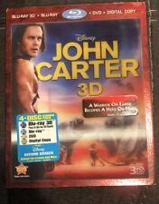 John Carter 3D Blu-Ray + Blu-Ray + DVD Digital Copy With Lenticular Slipcover