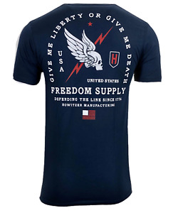 Howitzer Style Men's T-Shirt FREEDOM LINE Military Grunt S M L XL 2XL 3XL