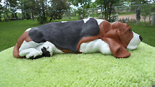 LYING DOWN BASSET HOUND CEMENT DOG STATUE - CUSTOM PAINT OF YOUR DOG!