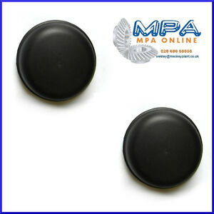SET OF 2 73mm PUSH IN BLACK HUB CAP GREASE DUST TRAILER COVERS KNOTT