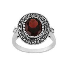 Gioielli di lusso rosso ovale in argento sterling