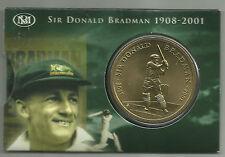 SIR DONALD BRADMAN 2001 $5 UNCIRCULATED TRIBUTE COIN in FOLDER