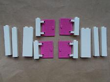 NUOVO COSTRUZIONI LEGO 4 persiane rosa brillante e 6 sezioni di muro bianco miscelato AMICI CASA CITY