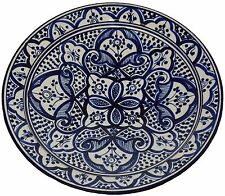 Moroccan Ceramic Plate Handmade Pasta Bowl Serving Wall Hanging 14inches X Large