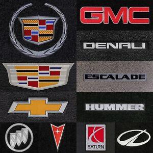 Luxe 4pc Carpet Floor Mats for GM Vehicles - Choose Color & Logo