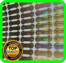 5040 Hologram labels, warranty seals, stickers, tamper evident dogbone 20x6mm