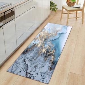 Non Slip Marbling Door Mats Long Hallway Runner Bedroom Rugs Kitchen Floor Mat