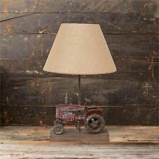 New Primitive Country Farmhouse RUSTIC TRACTOR LAMP Electric Table Light