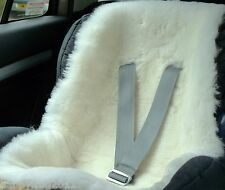 SHEEPSKIN WHITE for Buggy Pushchair Pram Car Seat Liner Mat Natural Eco-Friendly