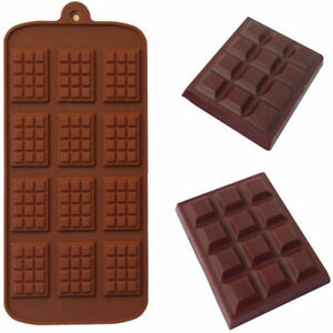 1PC Chocolate Bar Mould Candy Mold Chocolatier Silicone Mould Snap Wax Melt