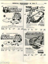 1981 ADVERT 2 Sided Auto Car Race Sets Tyco Magnum 440 Jeep CJ Snake Track