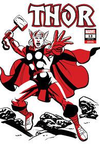 Marvel Comics THOR #13 Michael Cho Thor Two Tone Variant Cover (2021)