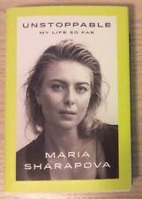 Maria Sharapova Signed Auto Autographed Tennis Book Unstoppable With COA 1st Ed.
