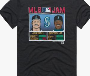 Seattle Mariners MLB Jam Mariners Johnson And Griffey Jr. Shirt Black Cotton Tee