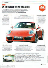 PUBLICITE ADVERTISING 066  2011  Porsche la nouvelle 911 au scanner
