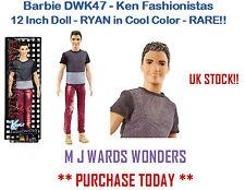 Barbie DWK47 - Ken Fashionistas 12 Inch Doll - RYAN in Cool Color  - RARE!!