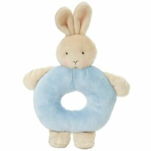 Bunnies By The Bay Ring Rattle - Blue Bunny