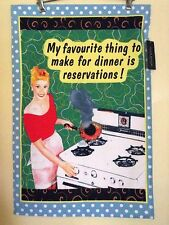 """DINNER RESERVATIONS""  PURE COTTON TEA TOWEL"