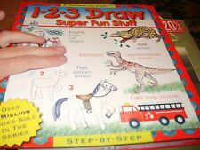 5 books in 1 1 2 3 Draw Supr Fun Stuff Dinosaurs Knights Animals Cars $39 book