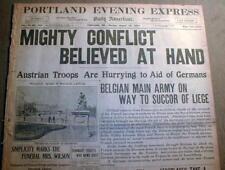 10 WW I newspapers 1914-1918 w/ LARGE banner headlines WORLD WAR I display
