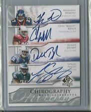 KNOWSHON MORENO LESEAN MCCOY WELLS #6/10 MADE RC ENSEMBLE 4 AUTO 2009 EXQUISITE