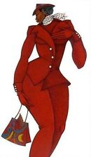 Ebony in Red  Limited Edition 300 Ethnic Artwork Expressionism 2000-Now by Bibbs