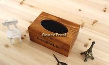 5 x Rectangle Shaped Solid Russian Oak Rustic Walnut Paper Tissue Box Holder