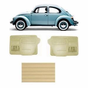 VW BEETLE 1968-1979 DOOR PANEL (OFF WHITE CREAM) RED SET 4PCS