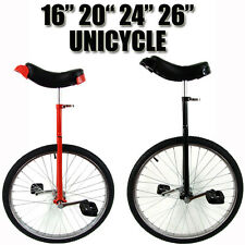 "Unicycle 16 - 26"" Fitness Pro Fun Uni Cycle Black Scooter Circus Bike Youth Kids"