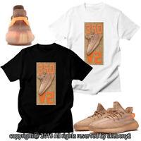 CUSTOM T SHIRT MATCHING STYLE OF adidas Yeezy Boost 350 V2 Clay AD-Y-4-1