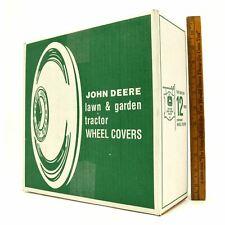"""New! JOHN DEERE WHEEL COVERS #M42184 Pair 11"""" Chrome HUB CAPS, 2 HUBCAPS in Box!"""
