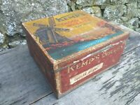 Collectable Vintage c1930's Kemp's Chocolate Wheaten Biscuit Tin - 5 3/4lbs Size