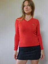 Cotton Blend V-Neckline Long Sleeve Tops for Women
