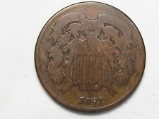 Better-Date 1871 US Two Cent Coin. 2¢. #96