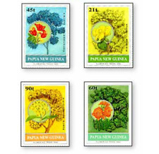 PAP9205 Flowers TREE 4 STAMPS MNH PAPUA NEW GUINEA 1992