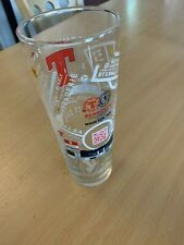 More details for tennent's lager - euro 2020/21 football -2xpint embossed glass -limited edition