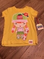 Harajuku Mini Girls Toddler Skater Yellow T Shirt 2T NWT