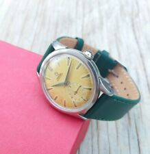 1954 Omega gents watch with tropical dial 34mm case new leather band vintage
