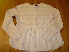 gestreifte Bluse mit langen Armen von GAP in Gr. XXL, rosa-beige-pink