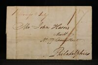 New York: Ballston Springs 1804 Stampless Cover, Ms & 17c Rate, DPO Saratoga Co