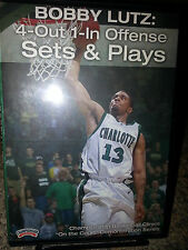 Bobby Lutz: 4-Out 1-In Offense Sets & Plays DVD OOP Basketball