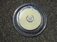 One genuine 1974 to 1978 Cadillac Eldorado hubcap wheel cover cream beater