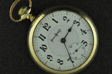 STUNNING VINTAGE 18S ILLINOIS 24J BUNN SPECIAL POCKET WATCH GOTHIC DIAL 1902