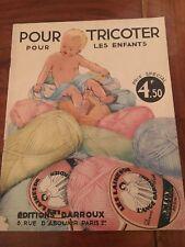 Vintage  CATALOGUE MAGAZINE Tricoter pour les enfants  baby tricot layette
