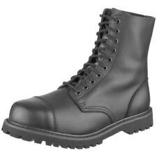 Scarpe da uomo stivali militari nero con da infilare