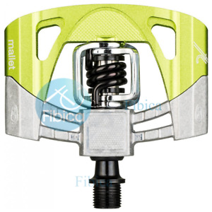NEW CRANKBROTHERS MALLET 2 RAW PEDALS GREEN
